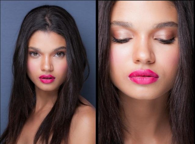 O bocão colorido, em tons fortes, e bem desenhado dá mais destaque para os lábios. Experimente um rosa pink no lugar do vermelho de sempre. Desfile 2nd Floor