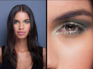 A sombra metalizada faz seus olhos brilharem. Aposte no verde esmeralda, que é a cor tendência de 2013! Desfile Fórum