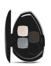Make B. Black Crystal Quarteto de Sombras - Preço Sugerido: R$ 61,99 - Nas cores Diamond Purple, Diamond Black e Diamond Boreal